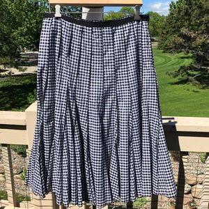 Focus Sz 10 Cotton Gingham Flare Skirt EUC